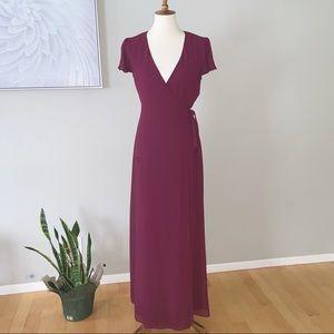 SHOW ME YOUR MUMU Noelle Wrap Dress - Chiffon, S